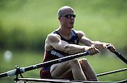 Hazewinkel. BELGIUM, USA JM1X,  Ian MCGOWAN.1997 FISA Junior World Rowing Championships. Course, Bloso Rowing Centre, Heindonk, Willebroek, Mechelen, Belgium.<br /> <br /> <br /> [Mandatory Credit; Peter Spurrier/Intersport-images] 1997 Junior World Rowing Championships, Hazewink