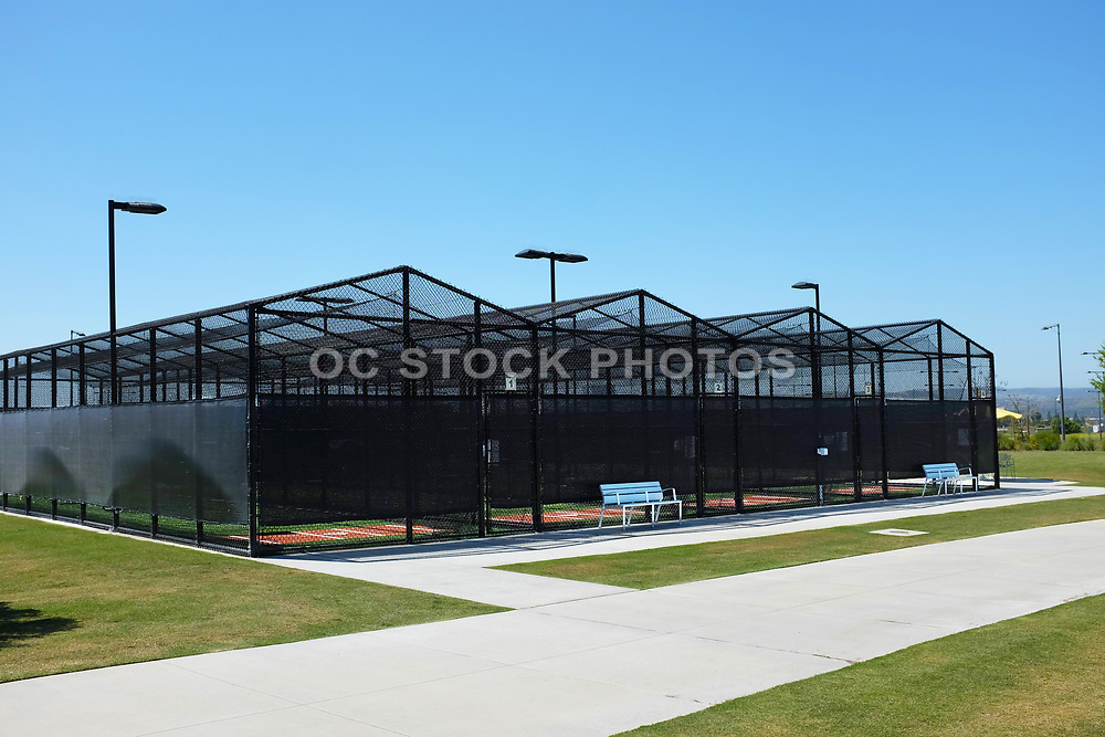 Baseball Batting Cages Adjacent to the Championship Baseball Stadium in the Orange County Great Park Sports Complex