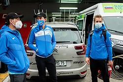 Jani Brajkovic, Domen Novak, Jan Tratnik of Team Slovenia after the Men Elite Road Race at UCI Road World Championship 2020, on September 27, 2020 in Imola, Italy. Photo by Vid Ponikvar / Sportida