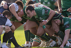 March 2, 2019 - Galway, Ireland - Dennis Buckley and Eoin McKeon of Connacht in action during the Guinness PRO 14 match  between Connacht Rugby and Ospreys at the Sportsground in Galway, Ireland on March 2, 2019  (Credit Image: © Andrew Surma/NurPhoto via ZUMA Press)