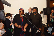 Khadija Saye; Sir Nicholas Serota, David A. Bailey, Diaspora Pavilion LAUNCH Palazzo Pisani and Santa Marina. Venice Biennale, 11 May 2017