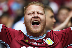 May 27, 2019 - London, England, United Kingdom - An Aston Villa fan prior to  the Sky Bet Championship Play Off Final between Aston Villa and Derby County at Wembley Stadium, London on Monday 27th May 2019. (Credit Image: © Mi News/NurPhoto via ZUMA Press)