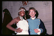 Nick Maddison and Linda Thorne at Piers Gaveston Ball. Oxford Town Hall. 1981 approx© Copyright Photograph by Dafydd Jones 66 Stockwell Park Rd. London SW9 0DA Tel 020 7733 0108 www.dafjones.com