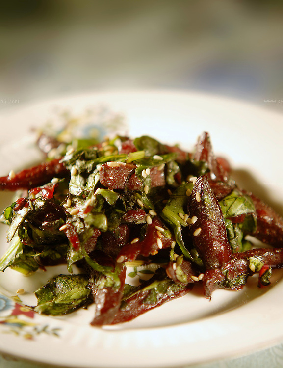 Chukander Palak - Beetroot and spinach ( Recipe available upon request )