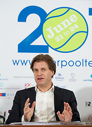 LIVERPOOL, ENGLAND - Wednesday, April 18, 2012: Tournament Director Anders Borg during a press conference to launch of the 2012 Liverpool International Tennis Tournament at the Hilton Hotel. (Pic by David Rawcliffe/Propaganda)
