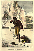 Falling of an Avalanche From the Book ' The history of Sandford and Merton ' by Thomas Day, 1748-1789; with original illustrations printed in colours by Edward and George Dalziel,