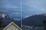 Sandane, Norway, is still light late in the evening on May 16, 2013.  (© 2013 Cindi Christie)