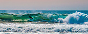 Surfer Riding a Wave in Newport Beach