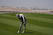 Haotong Li (CHN) on the 9th during Round 3 of the Oman Open 2020 at the Al Mouj Golf Club, Muscat, Oman . 29/02/2020<br /> Picture: Golffile | Thos Caffrey<br /> <br /> <br /> All photo usage must carry mandatory copyright credit (© Golffile | Thos Caffrey)