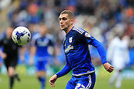 Stuart O'Keefe of Cardiff city in action Skybet football league championship match, Cardiff city v Bolton Wanderers at the Cardiff city Stadium in Cardiff, South Wales on Saturday 23rd April 2016.<br /> pic by Andrew Orchard, Andrew Orchard sports photography.