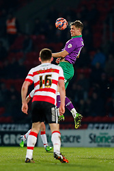 Matt Smith of Bristol City heads the ball - Photo mandatory by-line: Rogan Thomson/JMP - 07966 386802 - 03/01/2015 - SPORT - FOOTBALL - Doncaster, England - Keepmoat Stadium - Doncaster Rovers v Bristol City - FA Cup Third Round Proper.