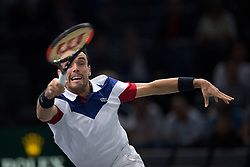 Roberto Bautista-Agut of Spain during the men's single first round match against Marin Cilic of Croatia during day four of the Rolex Paris Masters at the Accor Hotels Arena on November 2, 2017 in Paris, France. Photo by Yann Bohac/ANDBZ/ABACAPRESS.COM