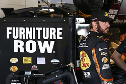 November 18, 2017 - Homestead, Florida, United States of America - November 18, 2017 - Homestead, Florida, USA: Martin Truex Jr (78) hangs out in the garage prior to practice for Ford EcoBoost 400 at Homestead-Miami Speedway in Homestead, Florida. (Credit Image: © Justin R. Noe Asp Inc/ASP via ZUMA Wire)