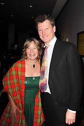 British explorer, adventurer, author BENEDICT ALLEN and CATHY DEAN from the charity Save The Rhino at a dinner in aid of Save The Rhino held at The Battlebridge Room, Kings Place, London N1 on 20th October 2010.