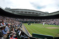 Lawn Tennis - 2021 All England Championships - Week Two - Friday - Wimbledon<br /> Mens Semi Final - Matteo Berrettini v Hubert Hurkacz<br /> <br /> Centre court fans view<br /> <br /> <br /> Credit : COLORSPORT/Andrew Cowie
