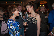KATHY LETTE; AMY ELLEN RICHARDSON The press night performance of the Menier Chocolate Factory's 'Merrily We Roll Along', following its transfer to the Harold Pinter Theatre, After-show party at Grace Restaurant, Gt. Windmill St. London. 1 May 2013.