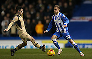 Joe Bennett, Brighton defender during the Sky Bet Championship match between Brighton and Hove Albion and Leeds United at the American Express Community Stadium, Brighton and Hove, England on 24 February 2015.