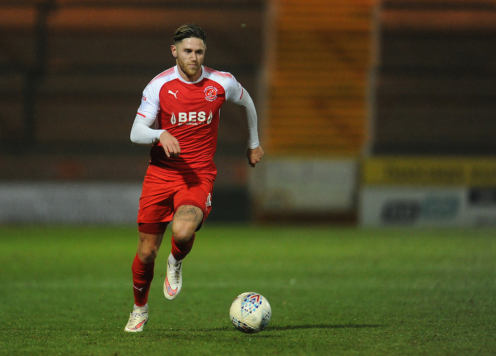 Fleetwood Town's Wes Burns<br /> <br /> Photographer Kevin Barnes/CameraSport<br /> <br /> The EFL Checkatrade Trophy Quarter Final - Yeovil Town v Fleetwood Town - Tuesday 6th February 2018 - Huish Park - Yeovil<br />  <br /> World Copyright © 2018 CameraSport. All rights reserved. 43 Linden Ave. Countesthorpe. Leicester. England. LE8 5PG - Tel: +44 (0) 116 277 4147 - admin@camerasport.com - www.camerasport.com