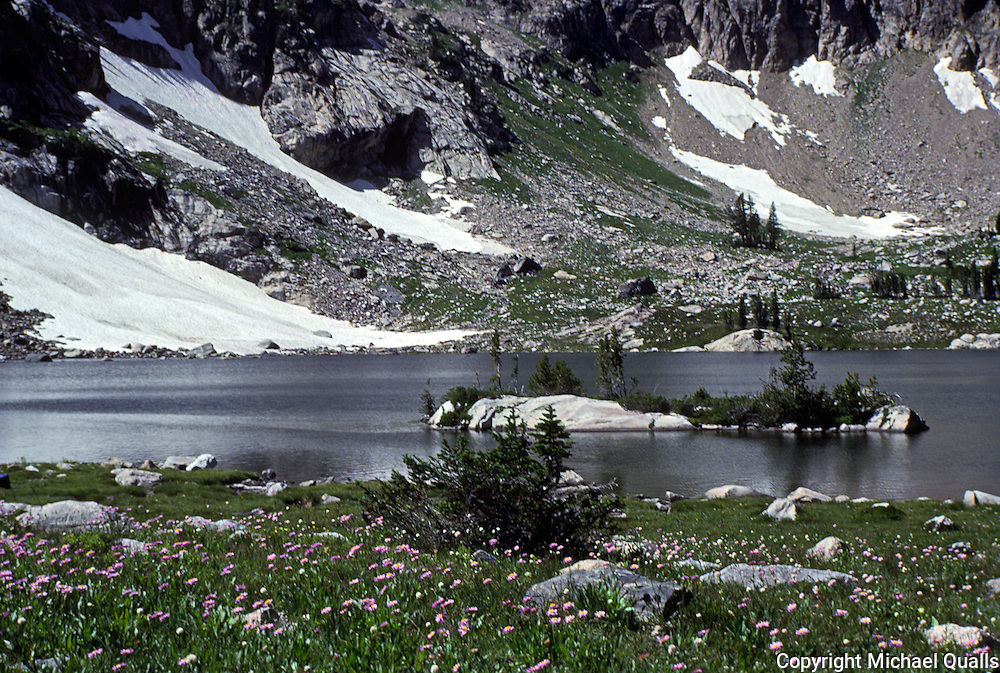 Lake Solitude in Grand Teton NP.  Hike 7 miles up the Cascade Canyon trail and then up over a lateral morraine.