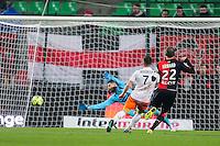 Goal Anthony MOUNIER - 06.12.2014 - Rennes / Montpellier - 17eme journee de Ligue 1 -<br />Photo : Vincent Michel / Icon Sport