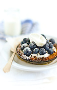 Blueberry Tart and Cream