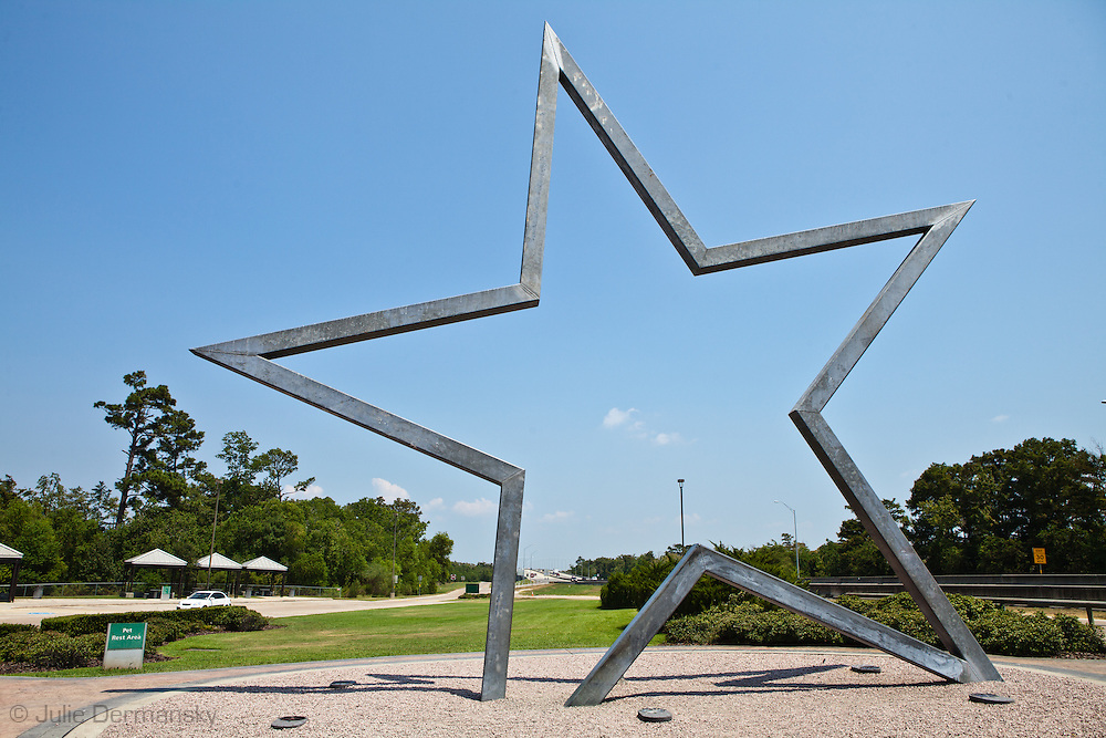 Star of Texas that welcomes visitors when the cross the state line form Louisiana into Texas on interstate 10.