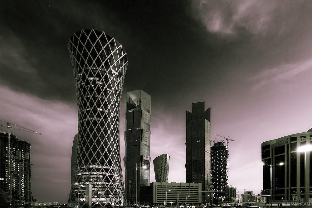 Doha Skyline at Dusk - Doha, Qatar