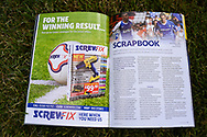 Screwfix advert in the programme before the  EFL Sky Bet League 1 match between Gillingham and Coventry City at the MEMS Priestfield Stadium, Gillingham, England on 25 August 2018.
