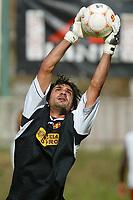 Roccaporena (PG) 31/7/2004 <br /> <br /> <br /> <br /> Ritiro precampionato FC Messina. Amichevole - Friendly Match. <br /> <br /> <br /> <br /> Messina - Selezione AIC 3-0 <br /> <br /> <br /> <br /> Nella foto: <br /> <br /> Dimitrios Eleftheropoulos goalkeeper - portiere del Messina <br /> <br /> Photo Andrea Staccioli