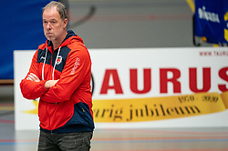 Coach Erik Gras of Taurus in action during the league match Taurus - Amysoft Lycurgus on January 16, 2021 in Houten.