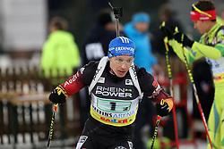 28.12.2013, Veltins Arena, Gelsenkirchen, GER, IBU Biathlon, Biathlon World Team Challenge 2013, im Bild Andreas Birnbacher (Deutschland / Germany) // during the IBU Biathlon World Team Challenge 2013 at the Veltins Arena in Gelsenkirchen, Germany on 2013/12/28. EXPA Pictures © 2013, PhotoCredit: EXPA/ Eibner-Pressefoto/ Schueler<br /> <br /> *****ATTENTION - OUT of GER*****