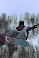 Snowboard, NM snøbrett halfpipe Geilo mars 2000. Terje Haakonsen (Håkonsen)