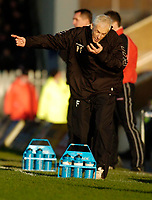 Photo: Leigh Quinnell.<br /> Milton Keynes Dons v Barnet. Coca Cola League 2. 20/01/2007. Barnet boss Paul Fairclough unhappy on the touch line.