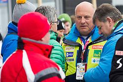 Iztok Klancnik during 1st run of Men's Slalom race of FIS Alpine Ski World Cup 57th Vitranc Cup 2018, on March 4, 2018 in Kranjska Gora, Slovenia. Photo by Urban Urbanc / Sportida