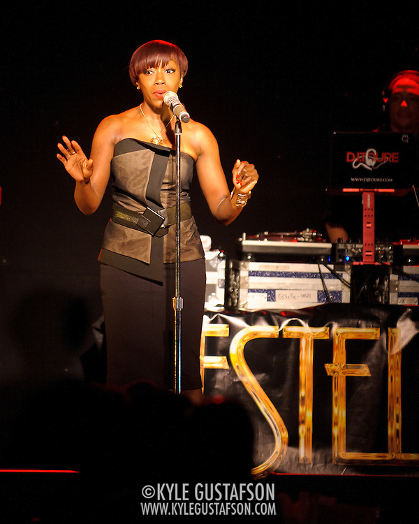 WASHINGTON, DC - February 22nd, 2012 - Grammy award-winning artist Estelle performs at the Birchmere in Alexandria, VA. Her third studio album, All of Me, will be released at the end of the month. (Photo by Kyle Gustafson/For The Washington Post)