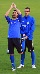 Marko Suler (4) and Mitja Morec (6) at practice of Slovenian men National team, on October 13, 2008, in Domzale, Slovenia.  (Photo by Vid Ponikvar / Sportal Images)