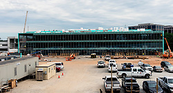 June 16, 2017 - Sandy Springs, Georgia, U.S. -  Mercedes-Benz USA's new corporate headquarters under construction in Sandy Springs, a northern suburb of Atlanta.  When completed in early 2018, the 93 million dollar, 200,000 square-foot facility will have office space for 1,000 employees.(Credit Image: © Brian Cahn via ZUMA Wire)
