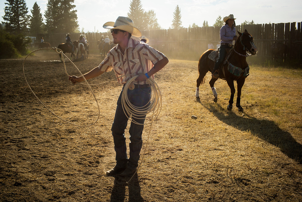 during the Tsuut'ina Nation rodeo near Bragg Creek, Alberta, July 29, 2017. Todd Korol/The Globe and Mail
