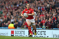 George North of Wales makes a break.  Rugby World Cup 2015 quarter final match, South Africa v Wales at Twickenham Stadium in London, England  on Saturday 17th October 2015.<br /> pic by  John Patrick Fletcher, Andrew Orchard sports photography.