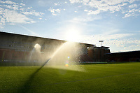 Football - 2021 / 2022 EFL Carabao Cup - Round One - Leyton Orient vs Queens Park Rangers - The Breyer Group Stadium<br /> <br /> Watering the pitch before the game.<br /> <br /> COLORSPORT/Ashley Western