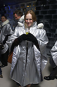 Claire Foss. Opening of the Absolut Icebar. Heddon St. London. 29 September 2005. ONE TIME USE ONLY - DO NOT ARCHIVE © Copyright Photograph by Dafydd Jones 66 Stockwell Park Rd. London SW9 0DA Tel 020 7733 0108 www.dafjones.com