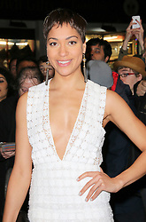© Licensed to London News Pictures. 23/02/2014, UK. Cush Jumbo, WhatsOnStage Awards, Prince of Wales Theatre, London UK, 23 February 2014. Photo credit : Richard Goldschmidt/Piqtured/LNP