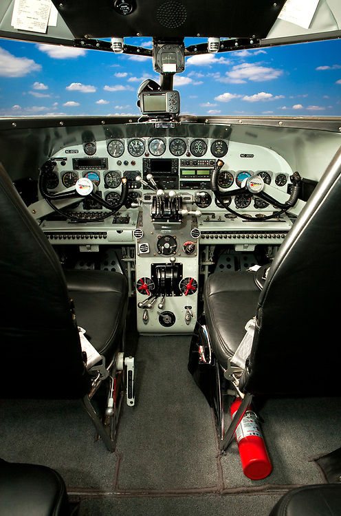 "The panel of a restored Lockheed 12A Electra Junior.  It was used in the movie ""Amelia"", opening in the fall of 2009."