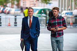 Sir Keir Starmer, shadow Brexit secretary arrives at the BBC before appearing on the Andrew Marr show. <br /> <br /> <br /> Richard Hancox | EEm 1 September 2019