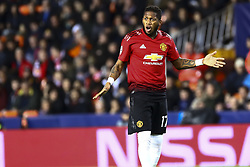 December 12, 2018 - Valencia, Spain - Fred of Manchester United   during UEFA Champions League Group H between Valencia CF and Manchester United at Mestalla stadium  on December 12, 2018. (Photo by Jose Miguel Fernandez/NurPhoto) (Credit Image: © Jose Miguel Fernandez/NurPhoto via ZUMA Press)