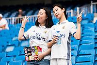 Real Madrid's asian supporters during a match of La Liga Santander at Santiago Bernabeu Stadium in Madrid. August 27, Spain. 2016. (ALTERPHOTOS/BorjaB.Hojas)