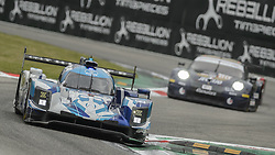 May 11, 2019 - Monza, MB, Italy - CARLIN racing team (Manchester, Tincknell and Barnicoat) at fast Ascari chicane followed by EBIMOTORS Porsche 911 RSR during Free Practice Session 2 in Monza for the ELMS italian round. (Credit Image: © Riccardo Righetti/ZUMA Wire)