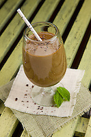 Healthy smoothie with mint leaves