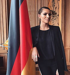 "Sophia Thomalla releases a photo on Twitter with the following caption: """"Ich liebe Deutschland.Ich liebe die Deutschen.Und die hier friedlich leben. Der Hass der AfD- wird bald Geschichte sein. #letsstaytogether"""". Photo Credit: Twitter *** No USA Distribution *** For Editorial Use Only *** Not to be Published in Books or Photo Books ***  Please note: Fees charged by the agency are for the agency's services only, and do not, nor are they intended to, convey to the user any ownership of Copyright or License in the material. The agency does not claim any ownership including but not limited to Copyright or License in the attached material. By publishing this material you expressly agree to indemnify and to hold the agency and its directors, shareholders and employees harmless from any loss, claims, damages, demands, expenses (including legal fees), or any causes of action or allegation against the agency arising out of or connected in any way with publication of the material."