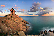 """The """"Cappelletta"""" of Alassio, the Memorial for the sailors who lost their lives at sea. Taken on a beautiful windy evening at the beginning of November, this is stitched from six vertical takes."""